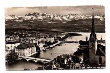 Switzerland - Zurich und die Alpen - Vintage Postcard