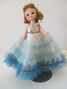 """VTG Betsy McCall 8"""" Doll in Blue Net Formal Gown"""