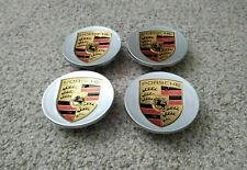 Porsche MACAN Factory OEM Wheel CONCAVE Center Cap set of 4 SILVER