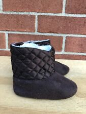 Stepping Stones baby  Brown Bootie Boots Size  9-12 months gently Used