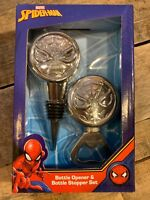 Marvel SPIDER-MAN Bottle Opener & Stopper Set NEW