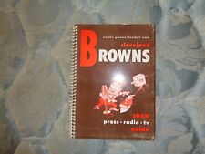 1949 CLEVELAND BROWNS MEDIA GUIDE Press Book AAFC CHAMPIONS! Football Program AD