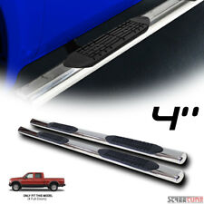 "4"" Chrome Side Step Nerf Bars Running Boards 99-16 Ford F250 F350 F450 Crew Cab"