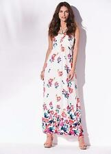 Bandeau Style Watercolour Print Chiffon Maxi Dress Size 10 NEW * SECONDS