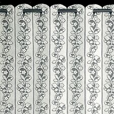 "Daisy Lace Net Curtain Louvre Blind Finished in White - 72"" Wide X 48"" Drop"