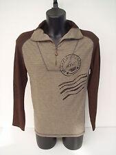 T-shirt Polo zip Roberto Cavalli,bicolor melanzana-marrone,tg 50