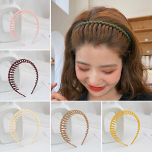 New Fashion Women Hair Band Headband Teeth Comb Hair Hoop Non-slip Headdress