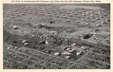 Poca City Oklahoma Birdseye View Of City Vintage Postcard K59393
