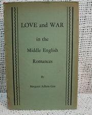 Amor y Guerra en el Medio Inglés Romances Old Tapa Dura Margaret Adlum Gist