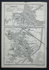 1899 Antica Topografica = CESENA E RIMINI =SCALA 1:15500