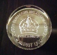 Crystal Dartington Queen Mother 80th Birthday Paperweight | FREE Delivery UK*