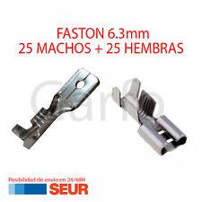 Pack 50X Terminal Faston 6.3 mm 25 Hembras y 25 Machos