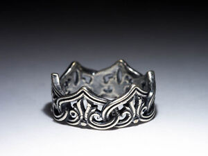 Crown Ring, Celtic Knot, silver-plated brass, size 17 / US 6.5