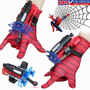 Spider-Man Glove Web Shooter Dart Blaster Launcher Toy Spiderman Costume Kids UK
