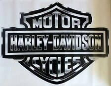 Harley Davidson Silver Bar & Shield Extra Large Trailer Decal Sticker
