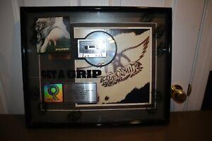 """Aerosmith 2X Platinum CD Record Award Framed Presented Plaque """"Get A Grip"""" RARE"""