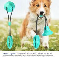 Pet Molar Bite Toy Multifunction Floor Suction Cup Dog Chew Tug Toy Ball Safe