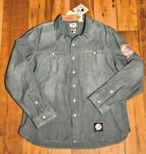 BRAN NEW Levi's YANKEES MLB Baseball JEAN / DENIM Button Up Shirt LEVI USA