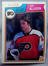 1983-84 OPC Hockey Ray Allison #259 Flyers Lot of 2 Hockey Cards
