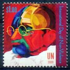UNITED NATIONS 2009-Mahatma Gandhi-1 Value-MNH-International Day of Non-Violence