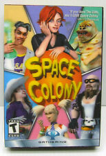 SPACE COLONY SIMS PC GAME 2003 WITH 3D MOVING COVER NEW IN ORIGINAL SEALED BOX