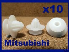 10 Mitsubishi wheel arch rocker panel lining cover sill moulding clips fastener