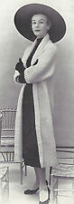 Vintage Knitting PATTERN to make Knitted Tube Coat Long Sweater Jacket 50s TubeC