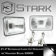 H4651 / H4652 / H4666 / H4656 Head Light Glass Housing Lamp Chrome - 4x6 PAIR