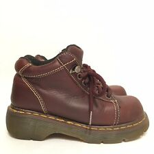 VINTAGE 8542 Womens Dr Martens UK 5 US 7 Brown Leather Chunky Ankle Boots 6 Eye