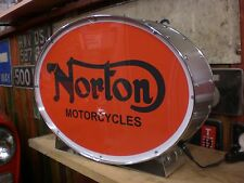 Norton,bike,old,lightup,sign,illuminated,display,mancave,garage,motorcycle,shed