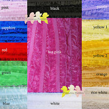 Organza & Elastic Lace Trim You Choose 13 Colours Frills both sides By The Metre