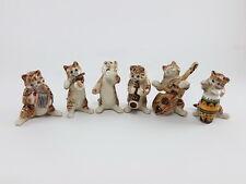 new Cat Kitten handmade ceramic porcelain music band animals dollhouse miniature