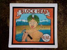"""""""Block Head """" Affiche de Freakshow imprimée sur Toile, Art Forain Sideshow Fakir"""