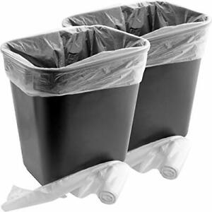 Small Plastic Trash Can Black & 4-Gallon Clear Bin Liners Combo Pack by Mop Mob