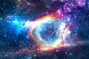 Space Galaxy Stars - Universe Nebula Colourful Wall Art Canvas Picture Prints