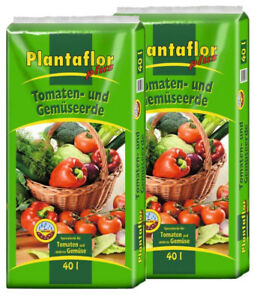 Plantaflor Plus Tomatenerde Gemüseerde 80 L (2 x 40 L) Erde Gewächshauserde