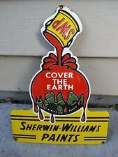 Vintage Sherwin Williams Paints Porcelain Sign