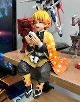 IN BOX Demon Slayer: Kimetsu no Yaiba Agatsuma Zenitsu Eat Rice Balls PVC Figure