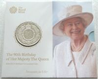 2016 Royal Mint Great Britain Queens 90th Birthday BU £5 Five Pound Coin Pack