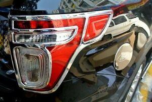 For Ford Explorer 2011 - 2015    2PCS ABS chrome Rear Tail light lamp cover trim