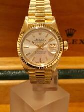 Estate~ Rolex President 18k Gold Datejust Silver Dial Jubilee Ladies Watch~ Mint