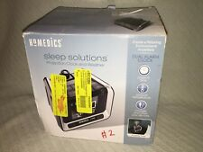 Homedics Sleep Solutions Projection Alarm Clock Radio Charges Electronics Box #2