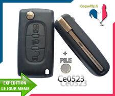 Coque Télécommande Plip Bouton Phare Citroen C2 C3 C4 C5 Ce0523 Cle Avec Rainure