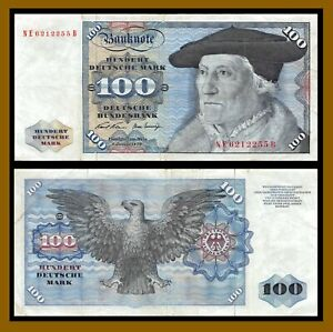 Germany 100 Deutsche Mark, 1970 P-34a Banknote Circulated (Cir)