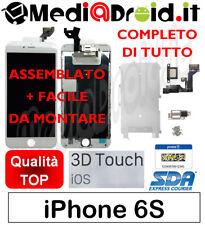 IPHONE 6S BIANCO VETRO DISPLAY LCD SCHERMO COMPLETO ASSEMBLATO ORIGINALE TIANMA