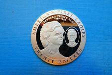 "Liberia, 20 Dollars, ""Barbara Pierce Bush"", 2003, Silber, original"