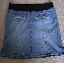 Maternity Skirt Womens Size 10 Light Blue Denim Jean Medium MODEST No Slit EUC