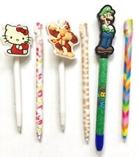 GREAT COLLECTION OF 6 NINTENDO DS STYLUS PENS ~ MARIO ~ HELLO KITTY ~ DITTY KONG