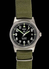 MWC G10 LM Stainless Steel Military Watch With Screw Caseback and Olive Strap