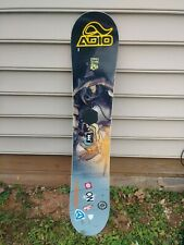 BURTON Punch Snowboard 145cm USED Alien Design with Storage Bag
